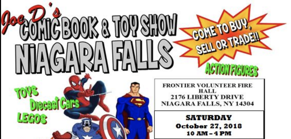 Upcoming Event - Joe Dee's Comic Book & Toy Show, Niagara Falls NY